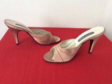 Sergio Rossi Alta Moda Italy Classic Neutral Pink Pumps  Sandals 37.  (b32)