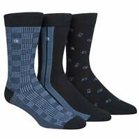Calvin Klein 3-Pack Multi Logo Tailored Men's Socks Gift Box, Blue/Navy One Size