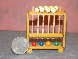 Dollhouse Miniature Croquet Game Set 1:12 one inch scale K69 Dollys Gallery