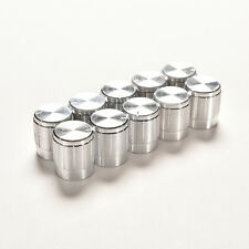 10X Aluminum Knobs Rotary Switch Potentiometer Volume Control Pointer Hole 6mm @
