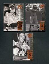 1999 Ted Williams Hank Aaron Roberto Clemente UD Century Legends Top 50 Lot
