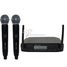 UHF Dual Wireless Microphone System Stage Performances KTV Speaker 600-627MHz