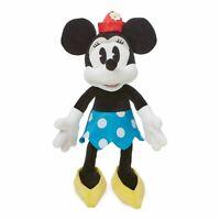 "Disney Store Minnie Mouse Classic Vintage Blue Dress BIG Plush Toy Doll 19"" NWT"