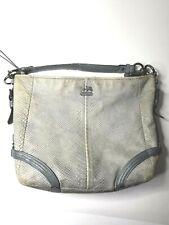 Coach Katarina Gray Exotic Snakeskin Leather Hobo Bag  Large 19039
