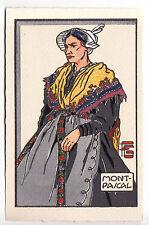 CPA  ILUSTRATEUR SAVOIE 73 74 - ART GEO FOURRIER ORIGINALE 1930 MONTPASCAL ~B01