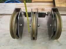 6 INCH BRONZE PULLEYS - VERY NICE CONDITION! - COMMERCIAL FISHING
