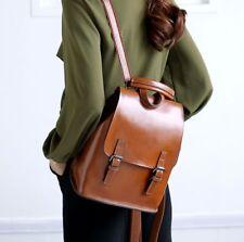 Korean Women Genuine Cow Leather Backpack Shoulder Bag Travel Bag Handbag Black