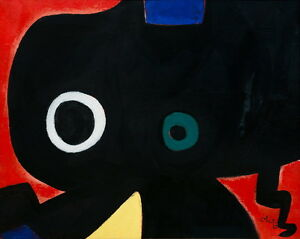 Joan Miro Personagge Giclee Canvas Print Paintings Poster Reproduction Copy