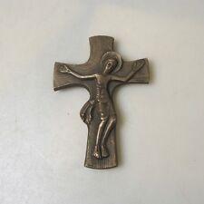 Sammlungsauflösung religiöse Volkskunst hochwertiges Kreuz Wandkreuz Bronze (25)