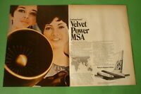 1971 RARE Original Advertising' MSA MALAYSIA-SINGAPORE AIRLINES velvet power