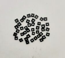 Natural Black Onyx Square Drilled Loose 4.50 MM Beads 42 PC 17 CT