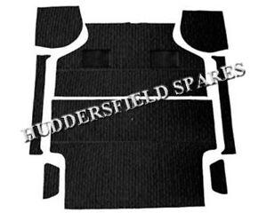 Classic Mini 8 piece deluxe black piped black carpet set, NEW