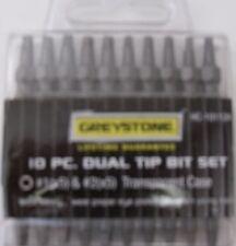 Greystone 10pc. Dual tip Bit Set #1 & #2 Hc-10112A