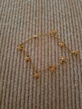 Bracelet, Ankle, gold tone, 9 inches, with starfish