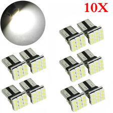 10pcs T10 LED 9SMD White Car License Plate Light Tail Bulb 2825 192 194 168 W5W