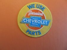 CHEVROLET PARTS AUTOMOTIVE bLUE & YELLOW Embroidered 3 x 3 Iron On Patch