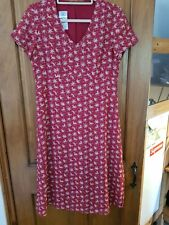 Laura ashley vintage dress size 12 red lily floral