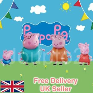 Large Peppa Pig George Balloon Birthday Party Foil Air Helium Balloons UK Free