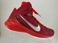buy popular 2d4a7 aed8c Nike Lunarlon Hyperdunk Red Lace up Basketball Athletic Shoes Mens 10.5M