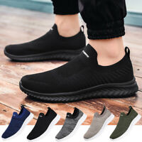 Men's Sneakers Casual Lightweight Walking Slip On Tennis Athletic Running Shoes