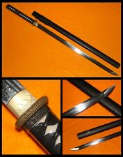JAPANESE NINJA BATTLE READY SWORD CHOKUTO FOLDED STEEL FULL TANG BLADE SHARP #64