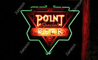 RARE Point Special Beer BAR PUB LIGHT Real Glass Neon Sign FREE FAST SHIPPING