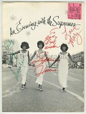 The Supremes - Program Signed by Diana Ross, Mary Wilson and Florence Ballard