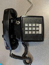 ITT Desk Telephone Push Button Corded Home Phone Touchtone Black