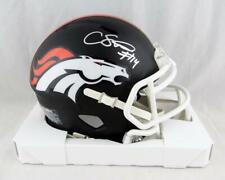 Courtland Sutton Autographed Broncos Flat Black Mini Helmet- JSA W Auth *Silver