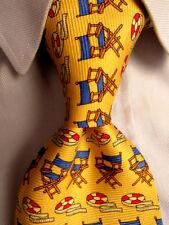 Men's Paul Fredrick Yellow Silk Tie A28262