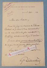 L.A.S 1894 J. A LABOULBENE Médecin entomologiste > M Letulle Duflocq Lettre Agen