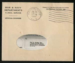USA V-Mail Brief komplett mit kopiertem Text 30.07.1944, selten!! #l415