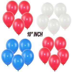 "100 LARGE PLAIN 10"" BALLOONS BALLONS helium BALLOONS Quality Bday BALOON Wedding"