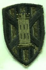 Vietnam War US U.S.Army 7th Engineer Brigade OD Subdued Patch,Original,Cut Edge