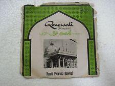 HAMID PARWANA QAWAL  QAWWALI URDU rare EP RECORD 45 vinyl INDIA 1978 EX