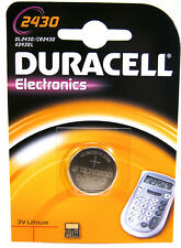 1 X Duracell CR2430 3V litio moneta cella BATTERIA DL2430 K2430L ecr2430