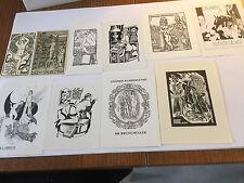 10 Erotisches Exlibris Strobel-Matza Lot 10 Erotic Nudes L