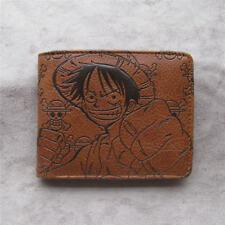 Anime ONE PIECE Luffy money clip Bifold Men Wallet Credit Card Holder Coin Purse