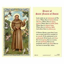 25 Laminated Holy Cards Prayer of Saint Francis Patron of Peace & Ecology