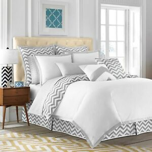 $100 JILL ROSENWALD WestPoint Copley Collection Buckley NEW TWIN DUVET Chevron