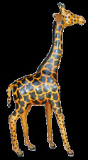 "18"" LEATHER GIRAFFE (LEATHERINES) *DECORATIVE PIECE *LIFE LIKE *FREE SHIPPING!"