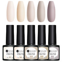 UR SUGAR 5 Bottles 7.5ml Nagel Gellack Soak off Gel UV Nagellack Nude Nail Kit