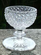 ANTIQUE GEORGIAN EARLY VICTORIAN IRISH BRILLIANT CUT GLASS SALT PEDESTAL CELLAR