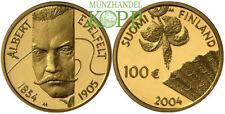 R706) Finlandia 100 euro 2004 - 150. compleanno Albert Edelfelt-ORO