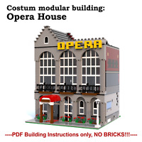 MOC modular opera house- costum LEGO building Instructions- PDF files only!