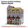 MOC modular opera house- costum LEGO building Instructions- PDF files only!