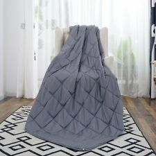 """60"""" x80"""" Weighted Blanket Full Queen Size Reduce Stress Promote Deep Sleep 20lb"""