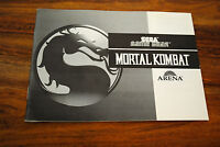 Notice version FR du jeu GAME GEAR MORTAL KOMBAT (notice seule)