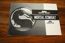 Notice version FR du jeu GAME GEAR MORTAL KOMBAT (notice seule)
