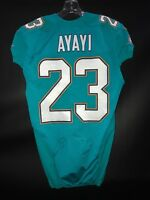 "#23 JAY AJAYI MIAMI DOLPHINS GAME USED JERSEY NAME SPELT WRONG! RARE! ""AYAYI"""